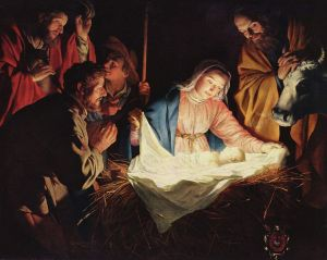 """Adoration by the Shepherds"" by Gerard van Honthorst"