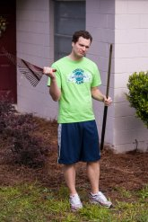 To get to the blog post I wrote for Tom's blog, you can also click on this picture of him just doing a great job with yard work.